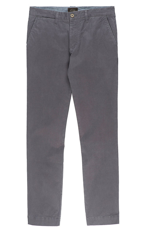 Grey Bowie Stretch Chino Pant - jachs