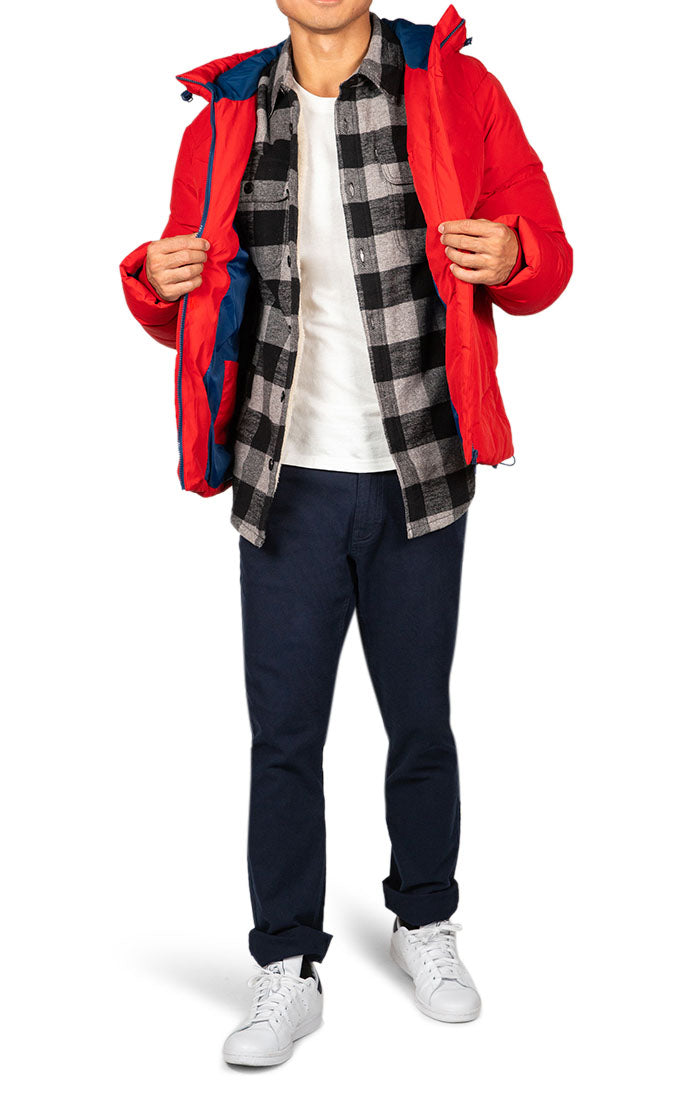 Charcoal Sherpa Flannel Shirt Jacket - JACHS NY