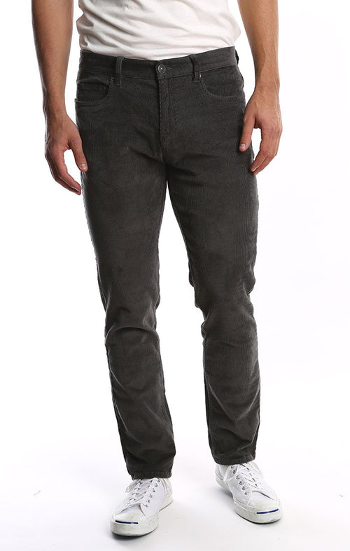 Grey Stretch Corduroy Pant - jachs