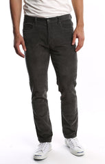 Grey Stretch Corduroy Pant