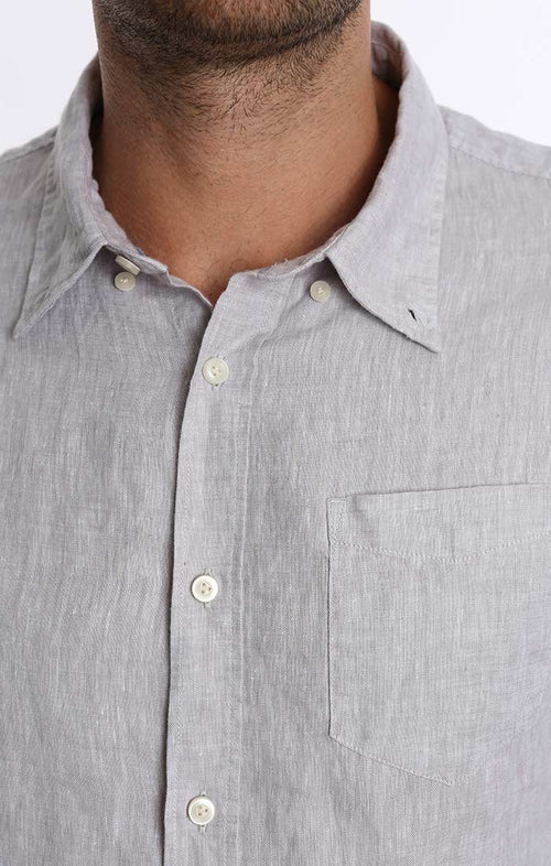 Grey Linen Chambray Shirt