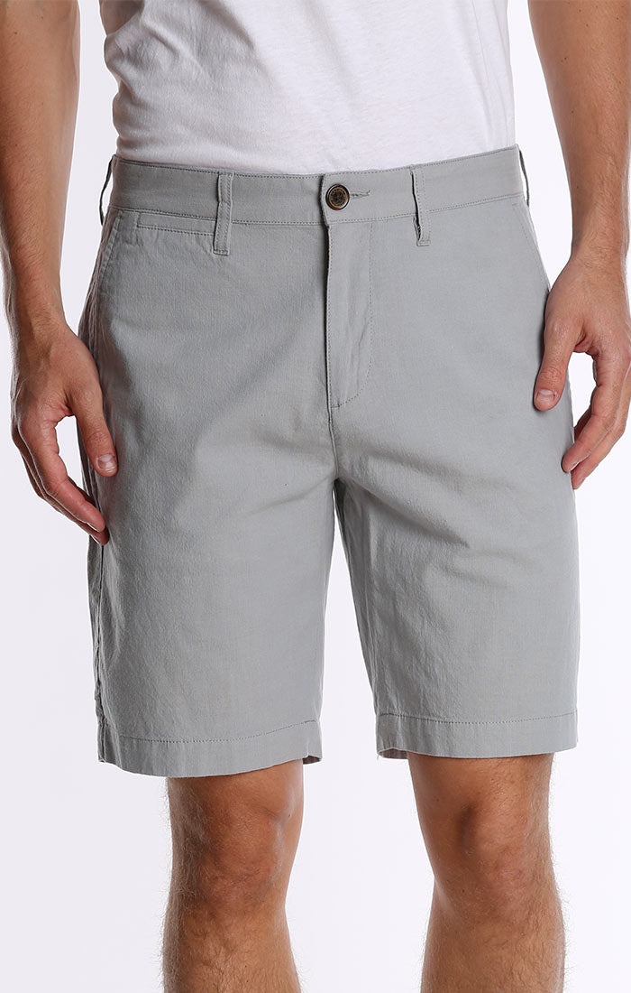 Grey Stretch Chino Short - jachs