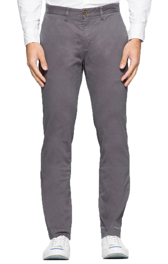 Grey Straight Fit Stretch Bowie Chino - jachs