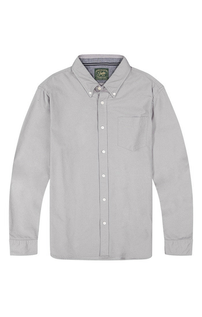 Grey Brushed Oxford Shirt - jachs