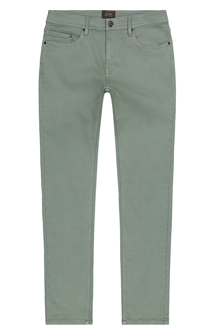 Olive Stretch Traveler 5 Pocket Pant