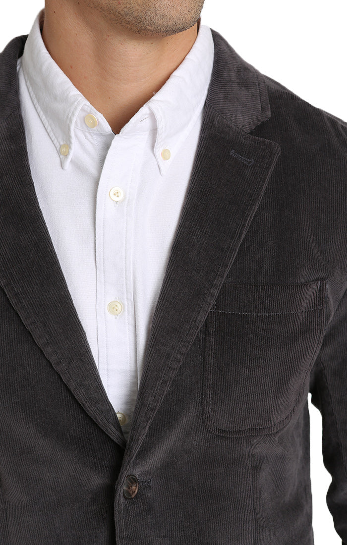 Grey Stretch Corduroy Blazer - jachs