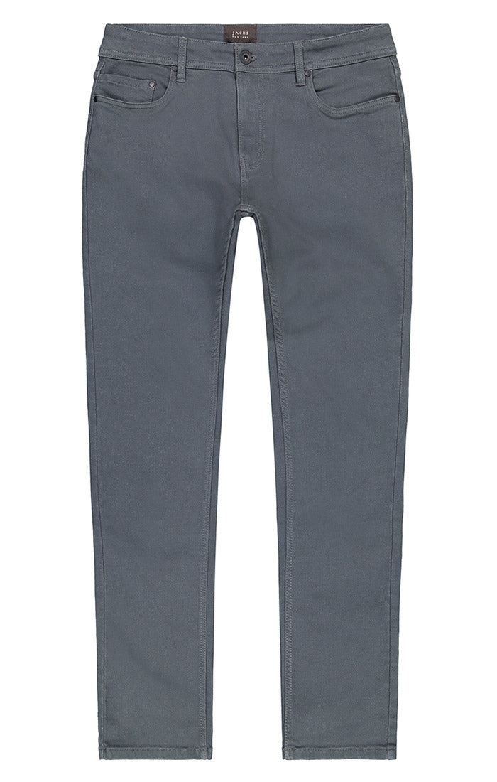 Charcoal Straight Fit Stretch Traveler Pant - jachs