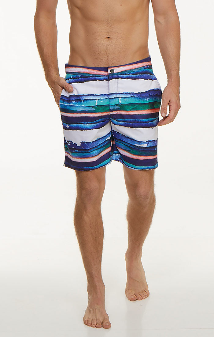 Horizon Print Swim Trunk