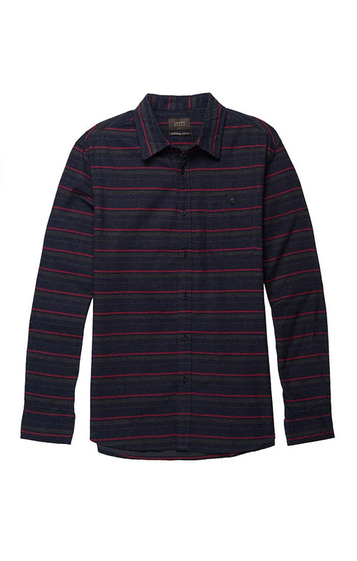 Horizontal Striped Flannel Shirt