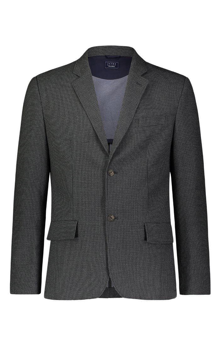 Charcoal Micro Houndstooth Blazer - jachs