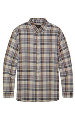 Ivory Stretch Plaid Double Face Shirt