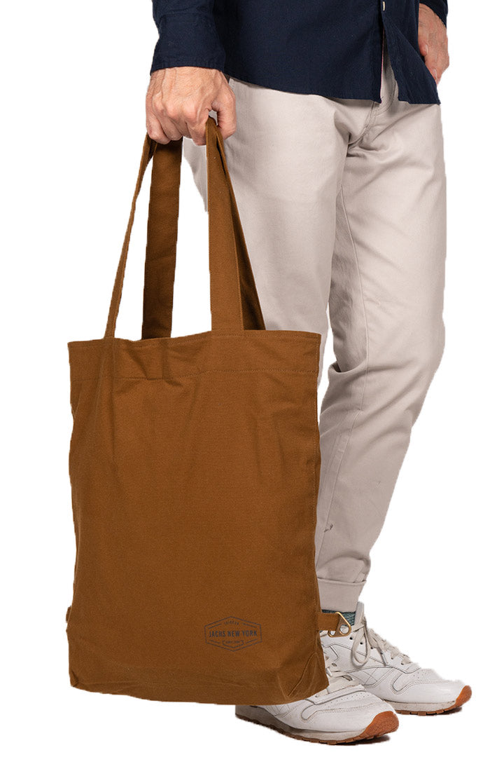 Khaki Canvas 3-Way Bag - JACHS NY
