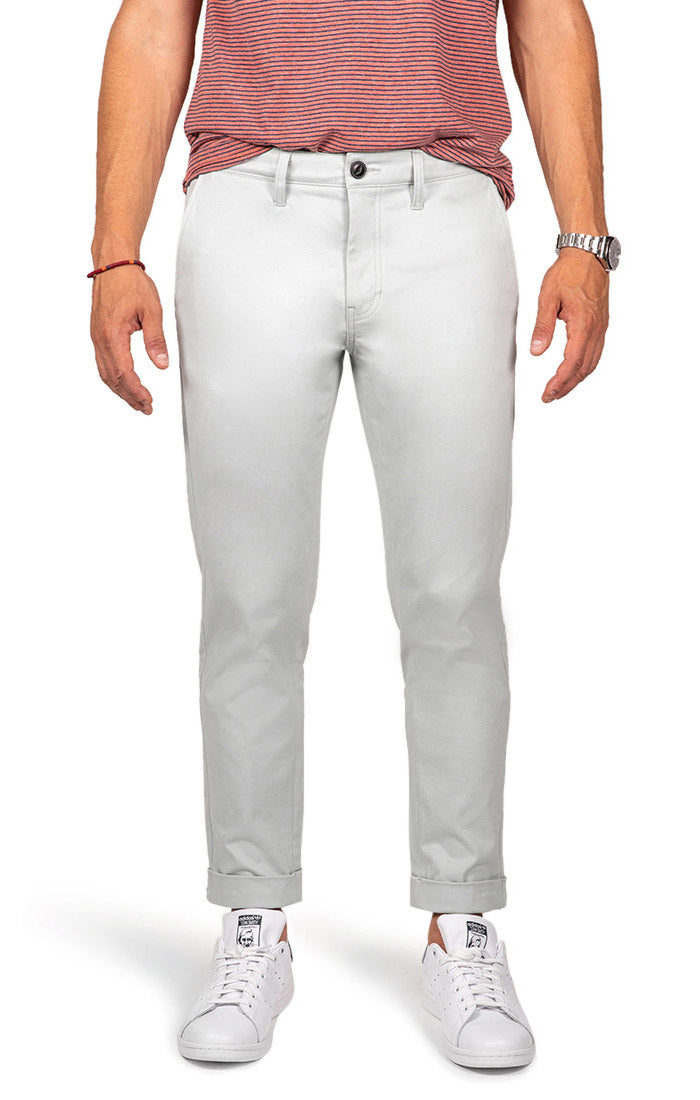 Light Blue Bowie Stretch Cropped Chino Pant - jachs