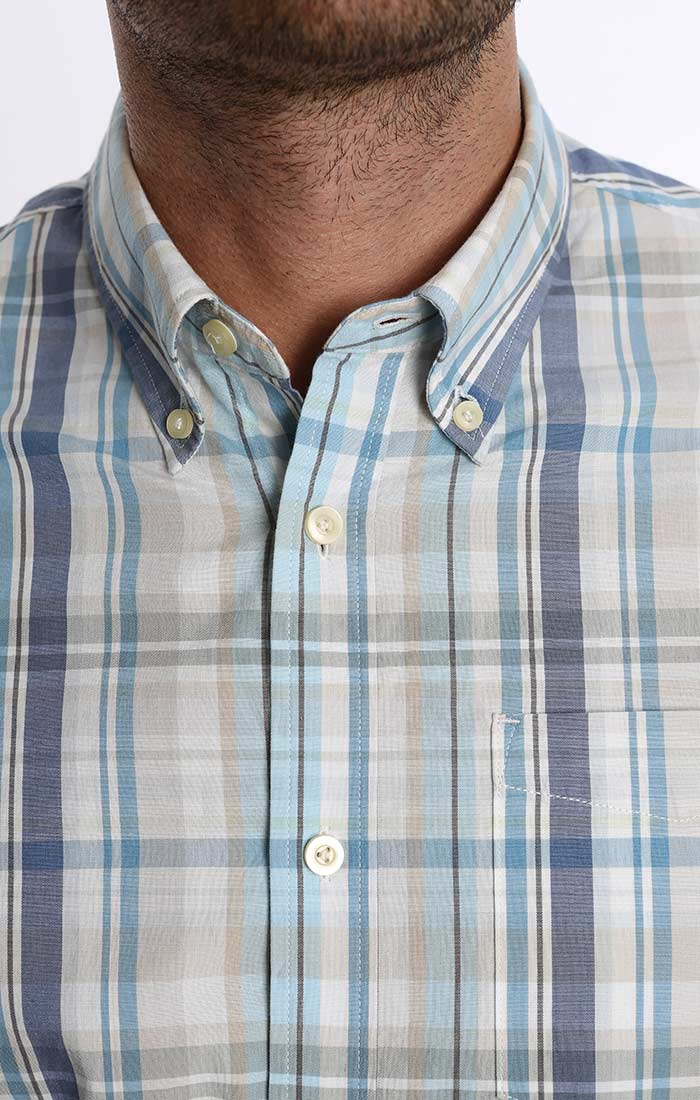 Light Blue Madras Plaid Shirt - jachs