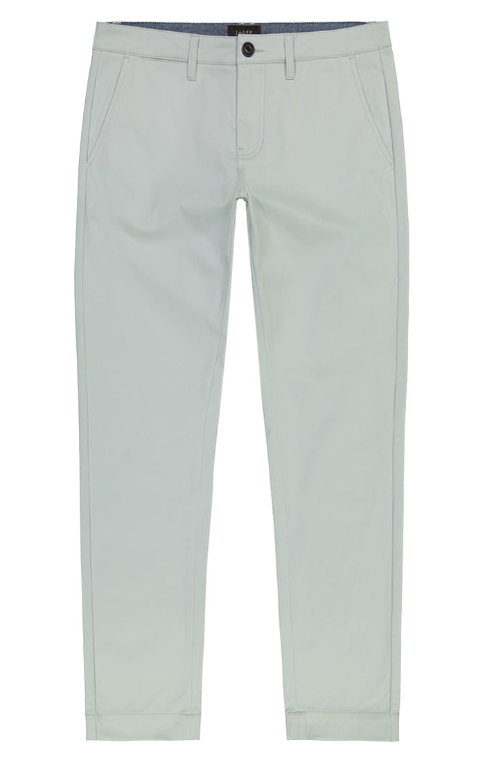 Light Blue Straight Fit Stretch Bowie Chino - jachs