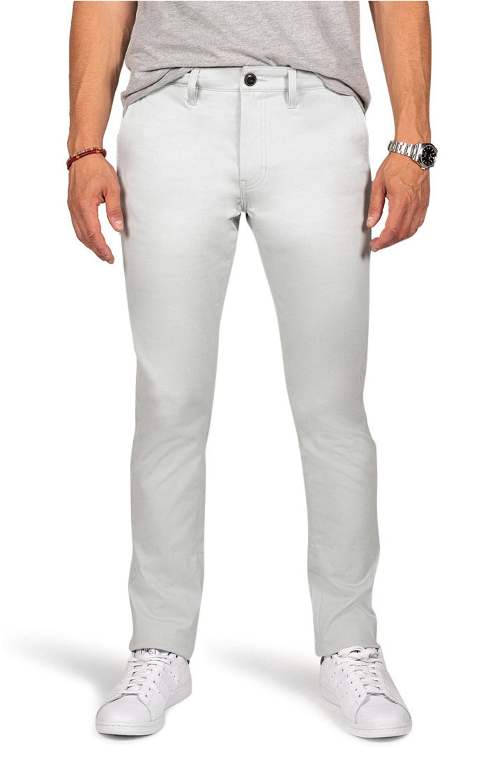 Light Blue Slim Fit Stretch Bowie Chino - jachs