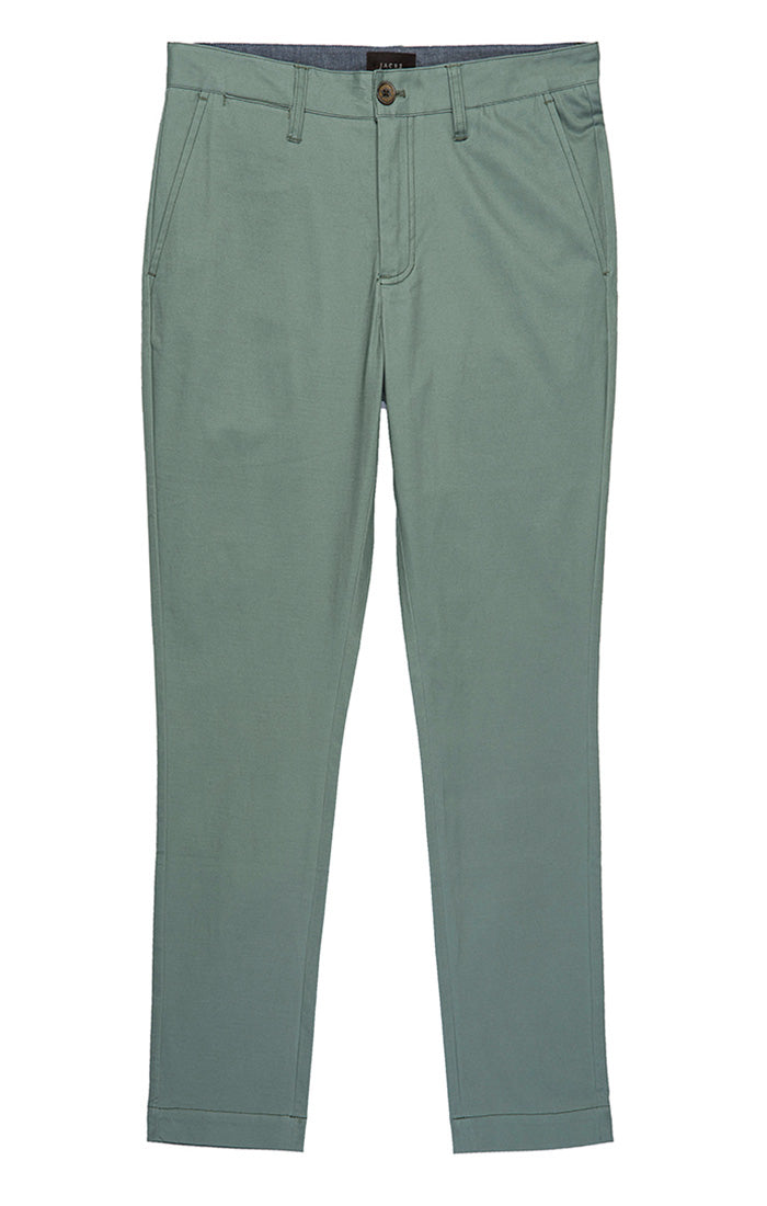 Light Green Bowie Stretch Straight Chino Pant - jachs