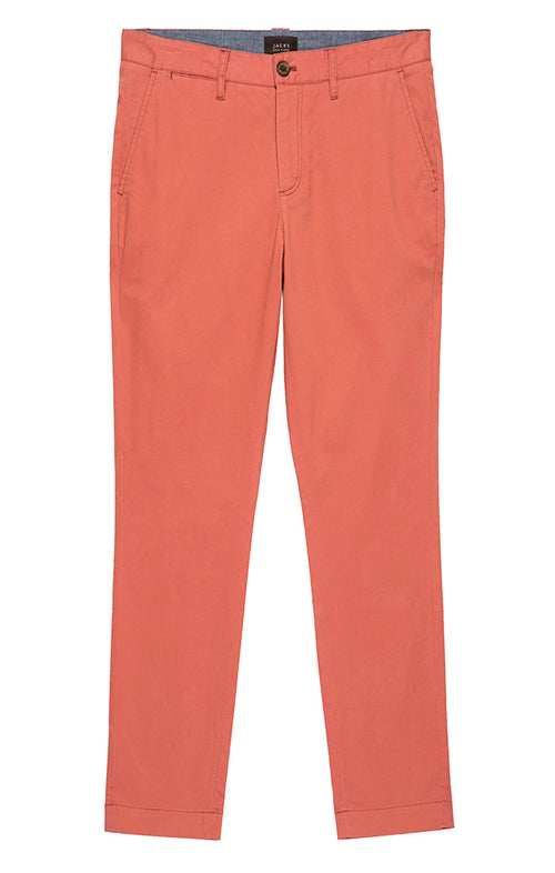 Light Red Bowie Stretch Chino Pant - jachs