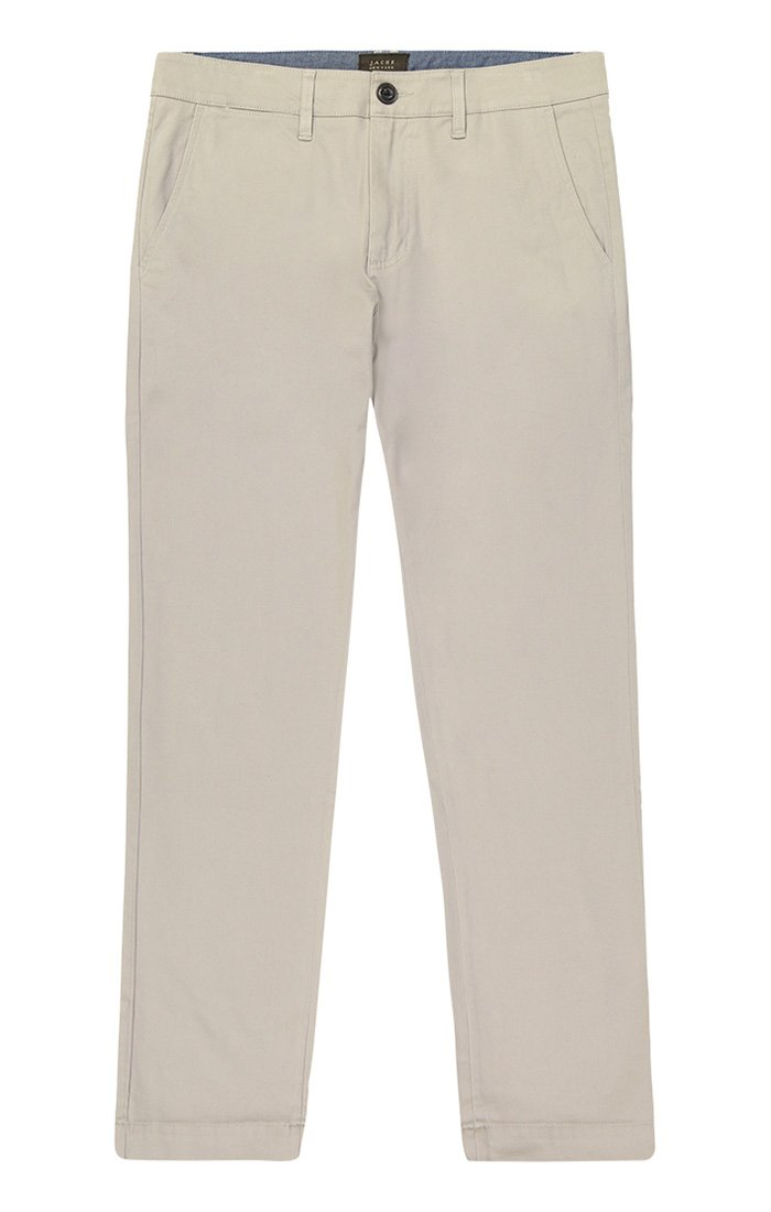 Light Stone Straight Fit Stretch Bowie Chino - jachs