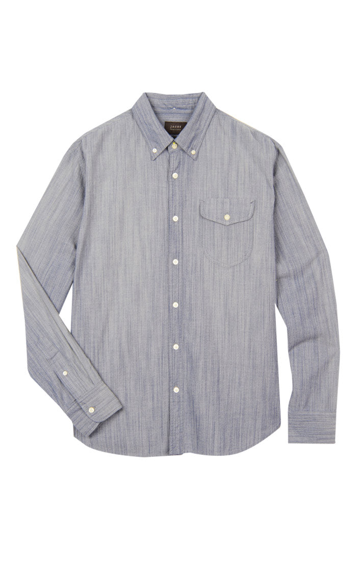 Light Wash Stretch Chambray Shirt - jachs