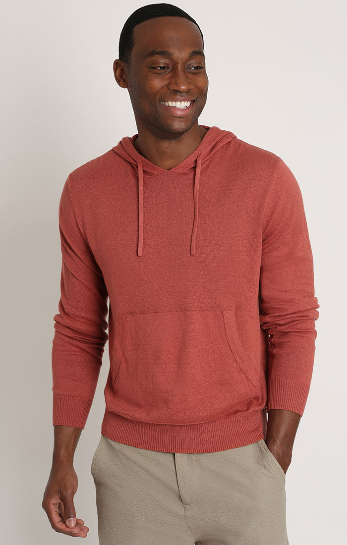Light Red Hooded Pullover Sweater - JACHS NY
