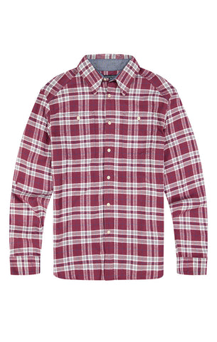 Indigo Jaspe Brushed Flannel Shirt