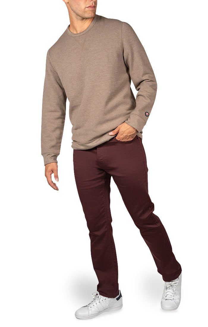 Maroon Straight Fit Stretch Traveler Pant - jachs