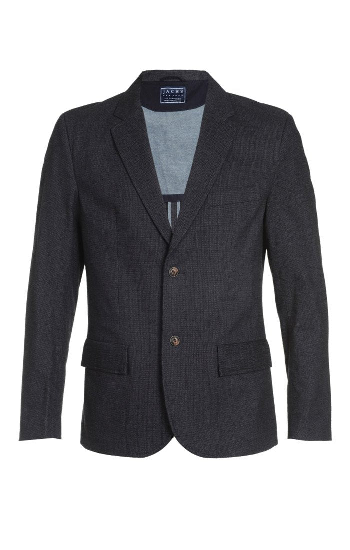Micro Brushed Stretch Herringbone Blazer - jachs