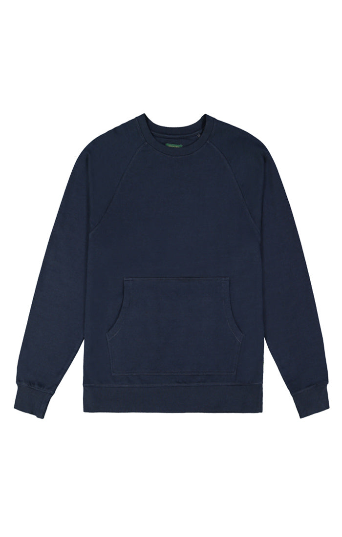 Navy Fleece Crewneck Sweatshirt - jachs
