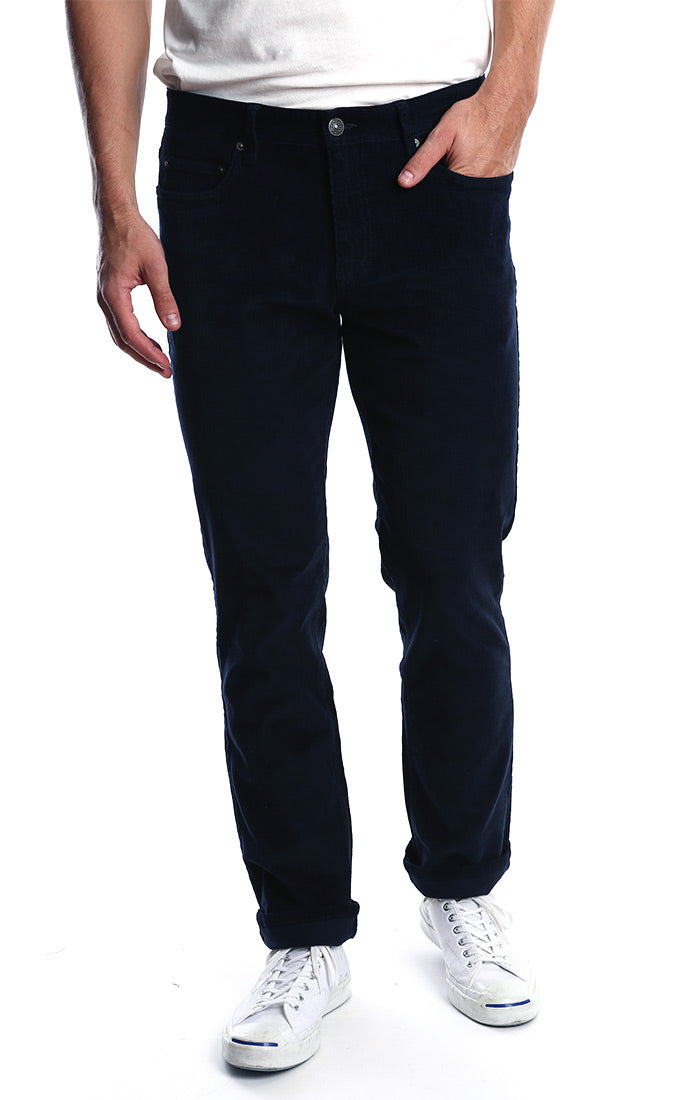 Navy Stretch Corduroy Pant