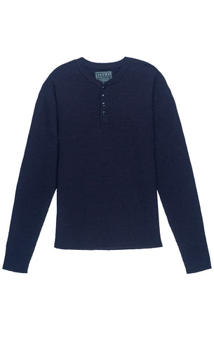 Charcoal Linen TriBlend Long Sleeve Henley