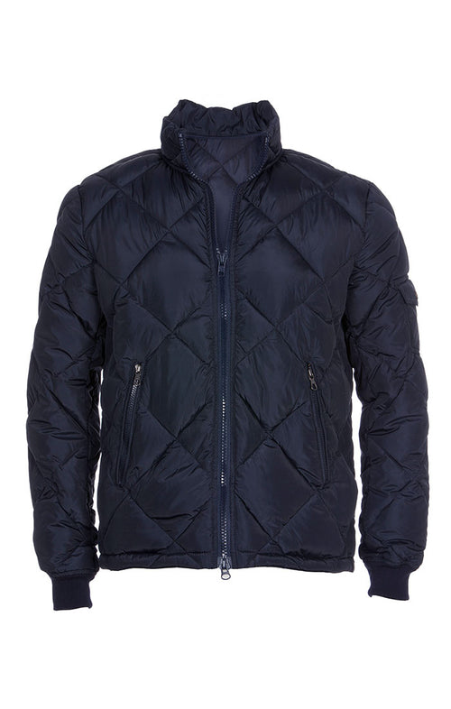 Navy Quilted Puffer Jacket