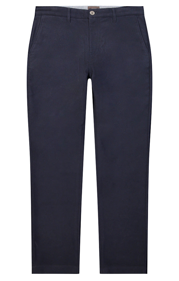 Navy Wool Blend Flannel Pant