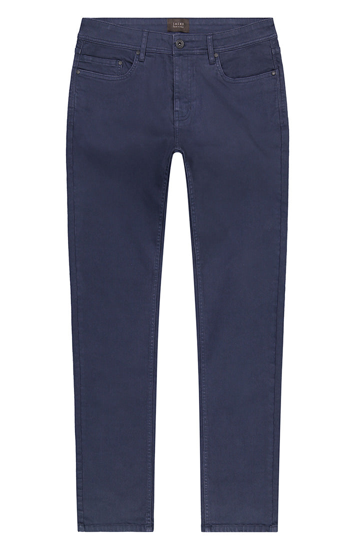 Navy Stretch Twill 5 Pocket Pant - jachs