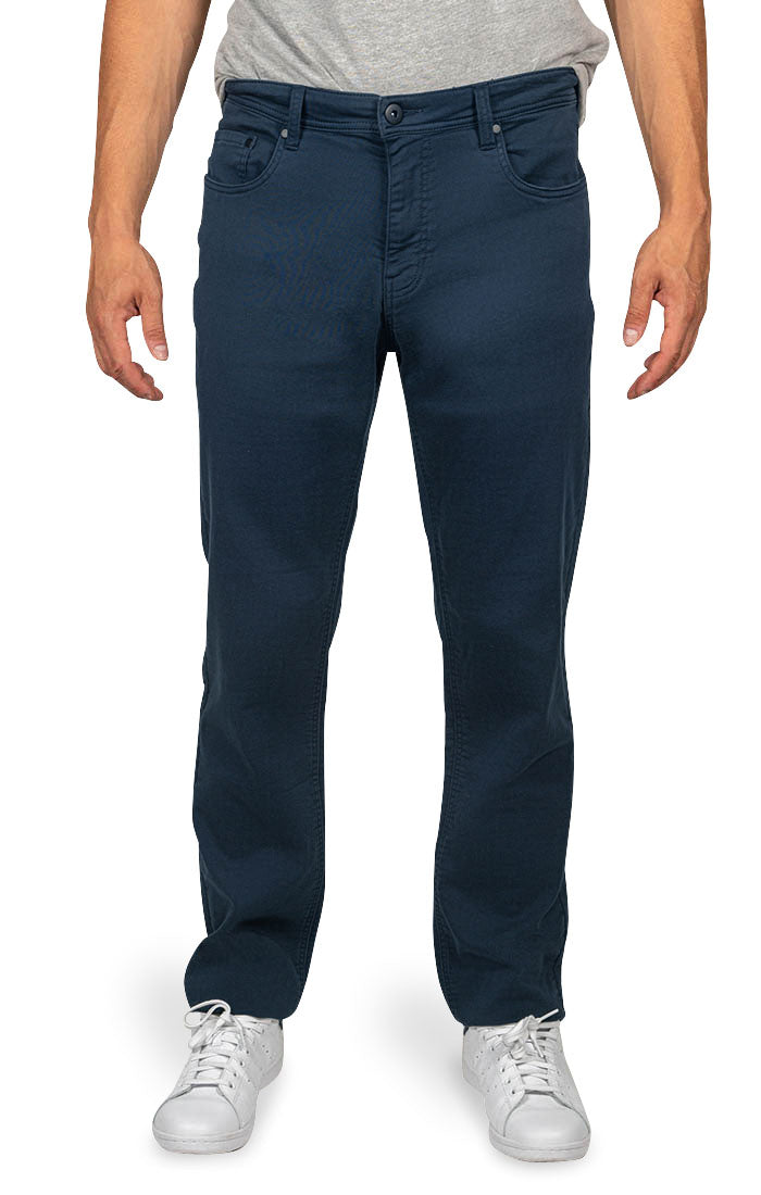 Navy Stretch Traveler Straight Fit Pant - jachs