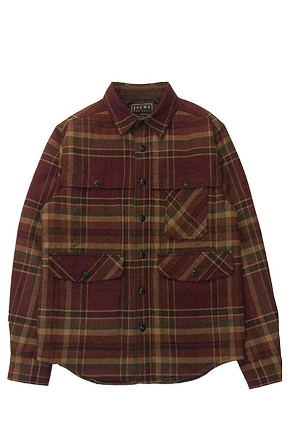 Plaid Wool Blend Hunting Jacket