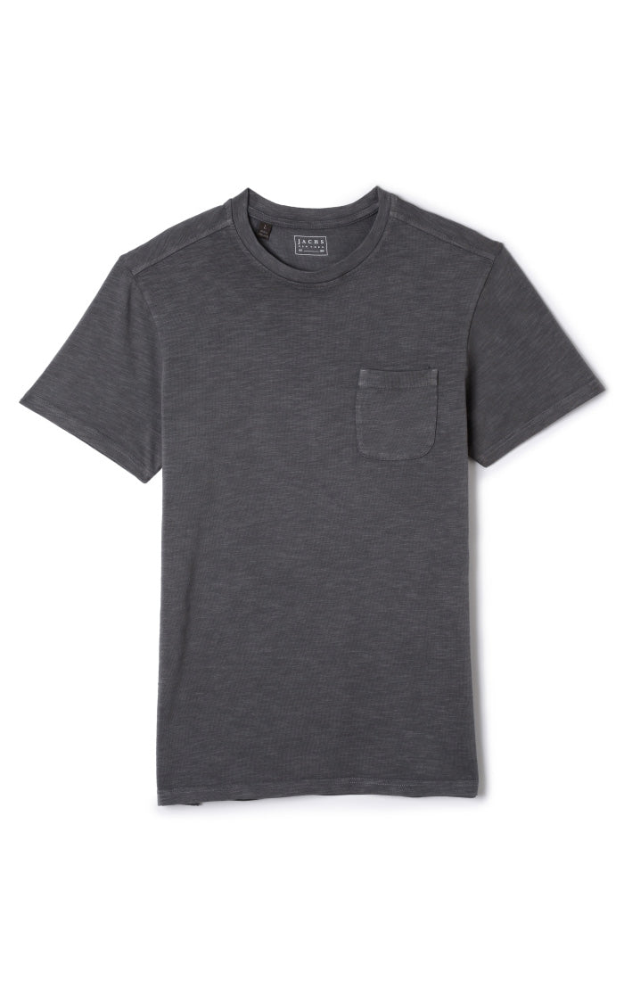 Odyssey Grey Slub Cotton Pocket Tee