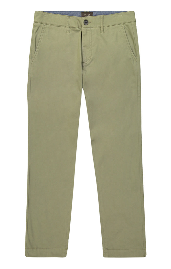 Olive Bowie Stretch Straight Chino Pant - jachs