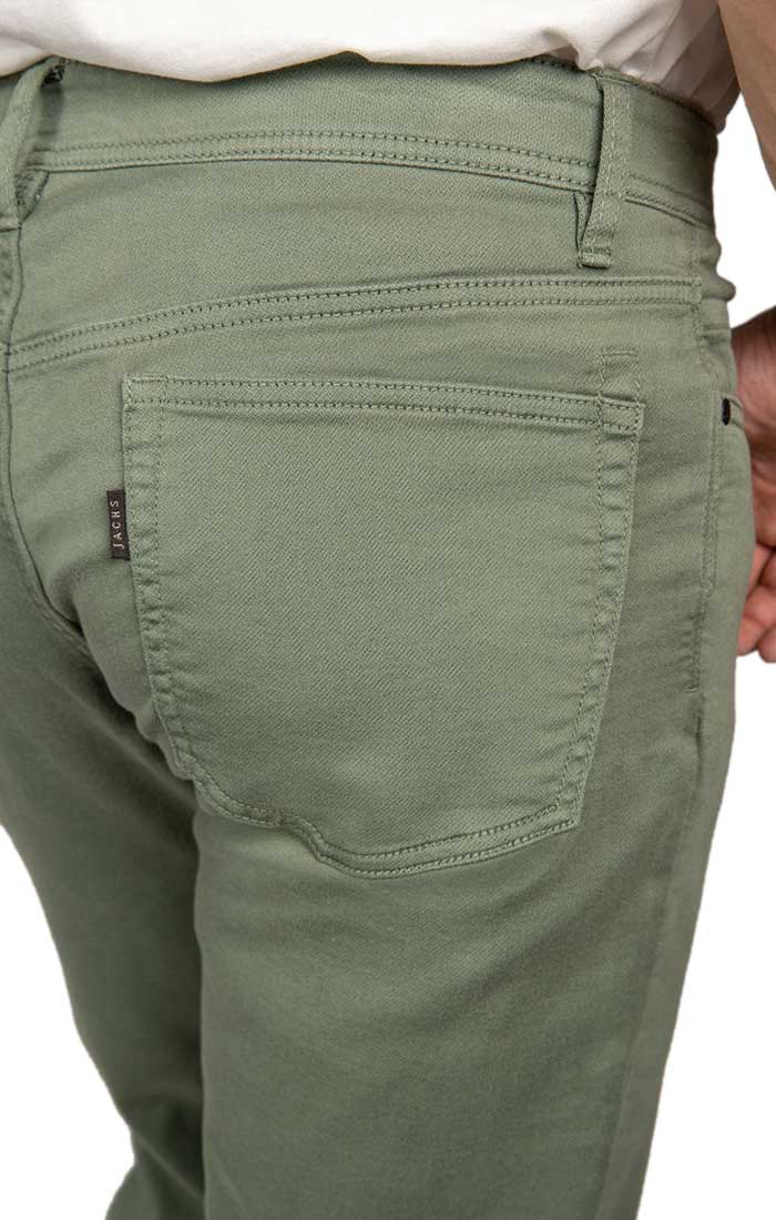 Olive Straight Fit Stretch Traveler Pant - jachs