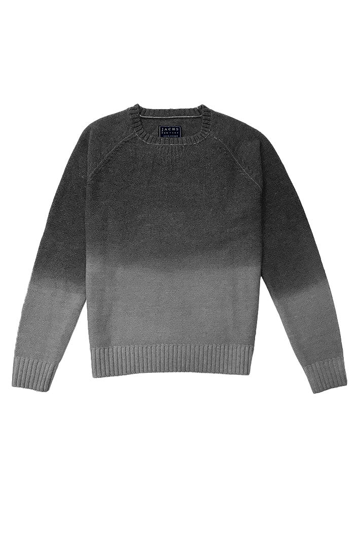 Grey Ombre Merino Wool Sweater - JACHS NY