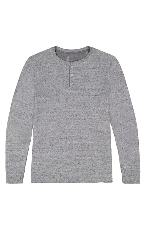 Grey Marled Long Sleeve Henley