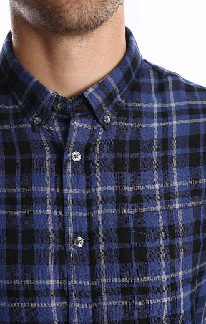 Indigo Plaid Double Face Shirt - jachs