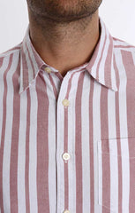 Red Stripe Short Sleeve Oxford Shirt