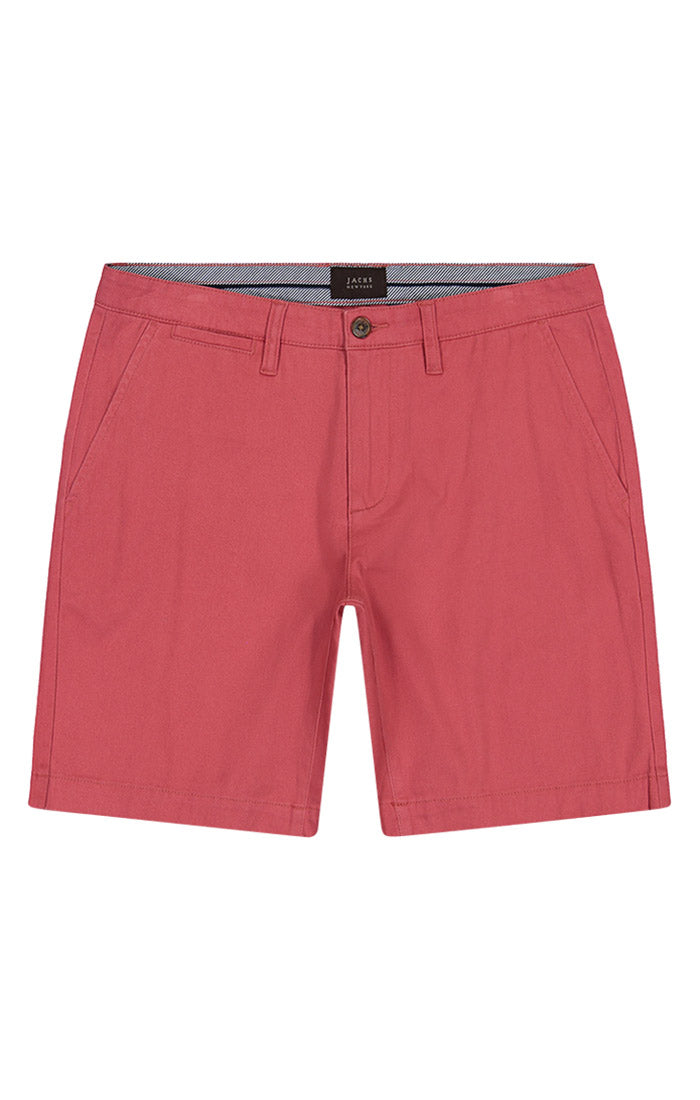 Red Stretch Twill Chino Short - jachs