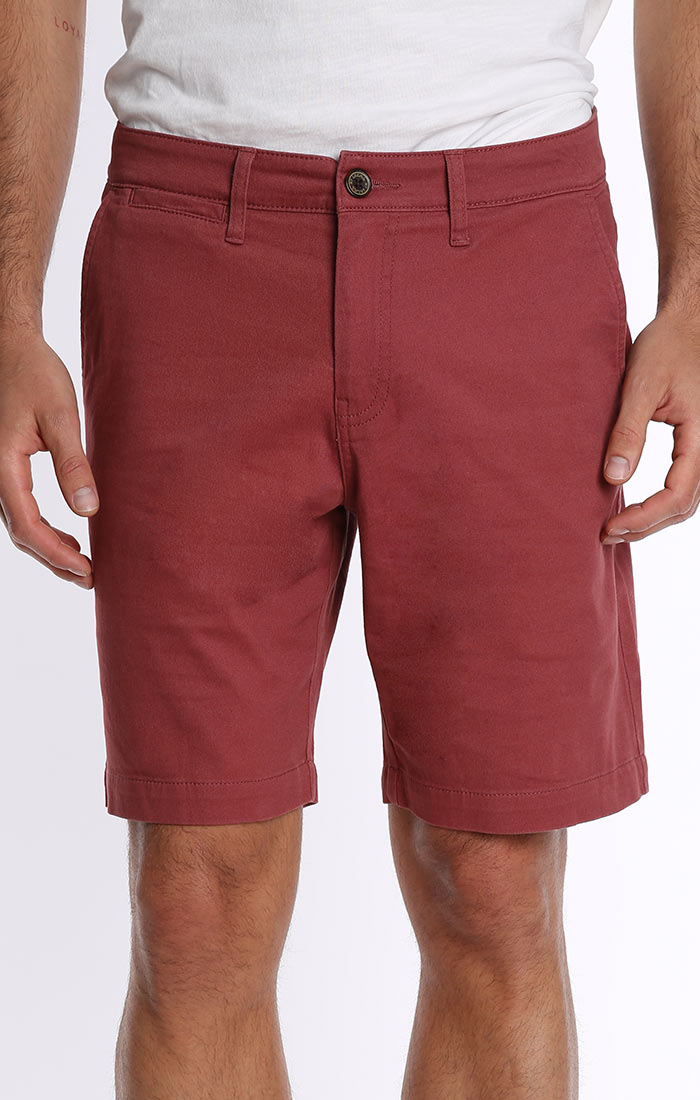 Red Stretch Twill Chino Short