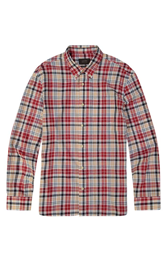 Red Madras Plaid Shirt - JACHS NY