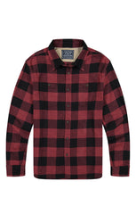 Red Buffalo Plaid Brushed Flannel Workshirt