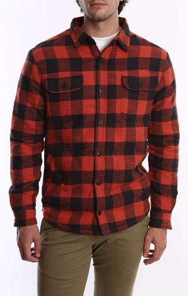 Red Sherpa Lined Flannel Shirt Jacket Jachs Ny