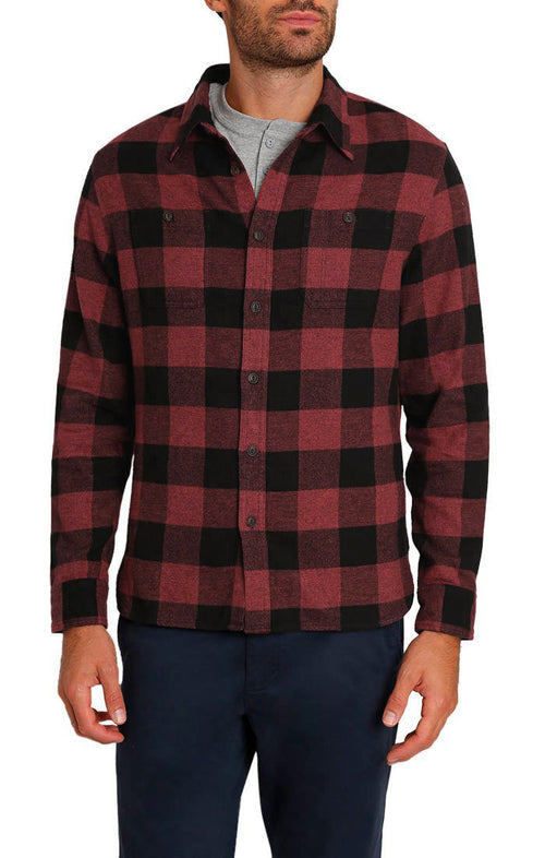 Red Buffalo Plaid Brushed Flannel Workshirt - jachs