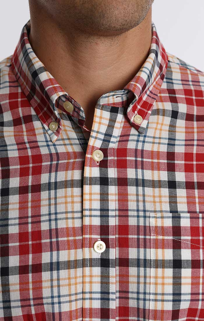 Red Madras Plaid Shirt